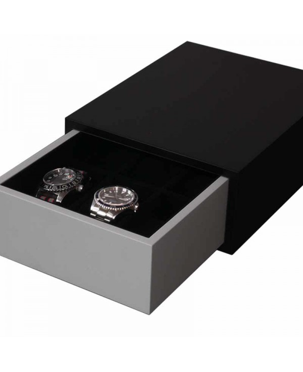 Drawer 6 watches Slipcase black and grey