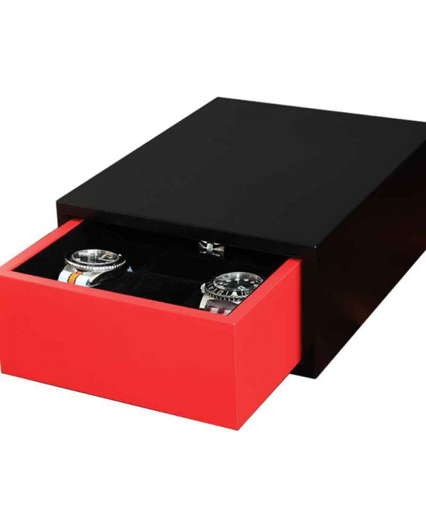 Drawer 6 watches Slipcase black and red