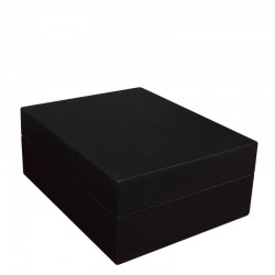 Watchbox black wood for 6 watches