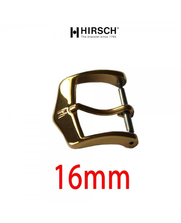 Watch Buckle Hirsch 16mm gold color
