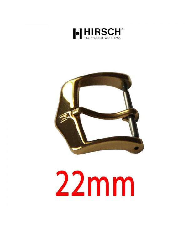 Watch Buckle Hirsch 22mm gold color