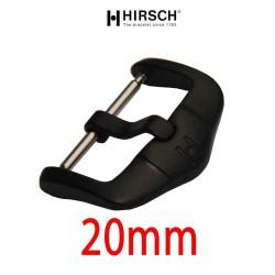 Buckle Hirsch 20mm black PVD stainless steel
