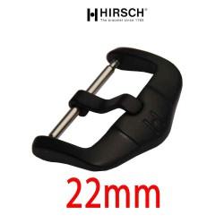 Buckle Hirsch 22mm black PVD stainless steel