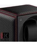Masterbox Cuir Noir Doubles Surpiqures Rouges