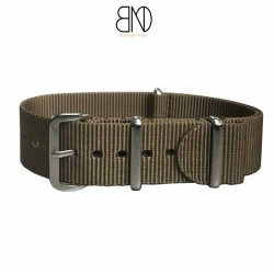 NATO Strap military KAKI brown 20mm