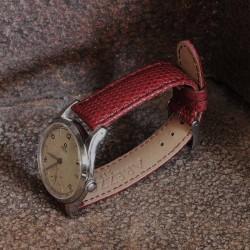 Watchstrap AREZZO KOMODO lizard bordeaux 18mm