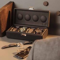 Scatola del Tempo - Watchbox - 4B-OS-XXL dark brown grained