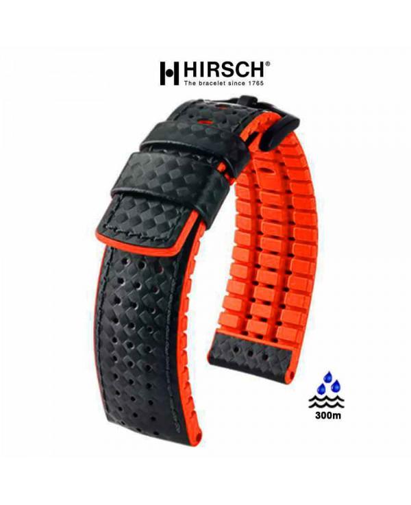 bracelet cuir orange 20mm