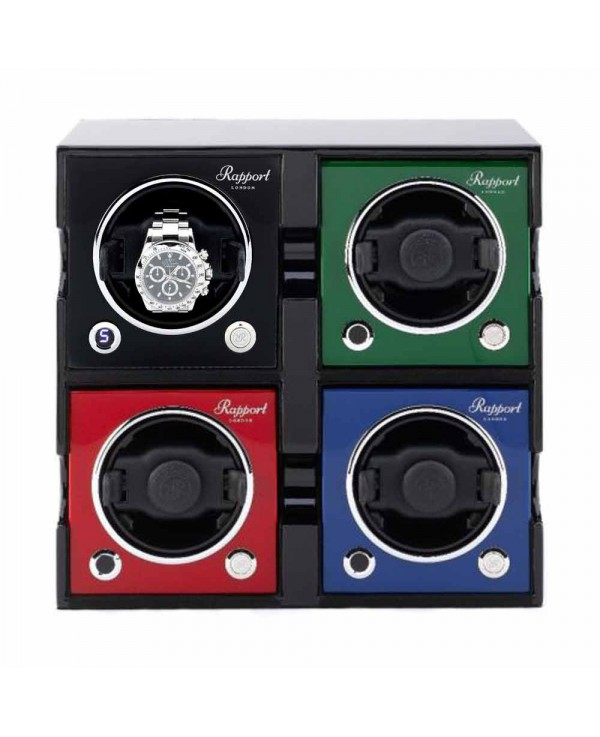 Set of 4 watchwinders MK2 Rapport London mix of colors