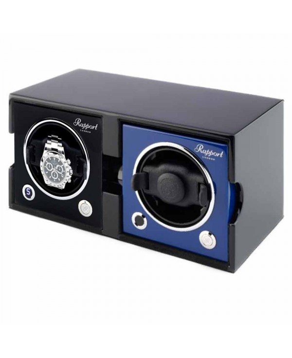 Set of 2 watchwinders MK2 Rapport London black and blue