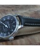 Watchstrap Hirsch NAVIGATOR 20mm black with deployment buckle