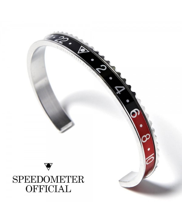 Speedometer Official Red Black and Polished Steel