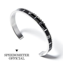 Speedometer Official Black and Polished Steel