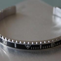 Bracelet Speedometer Noir et Inox Poli