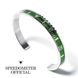 Bracelet Speedometer Official Vert et Inox Poli