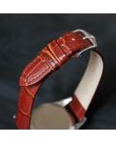 Watchstrap Hirsch DUKE gold brown 22mm