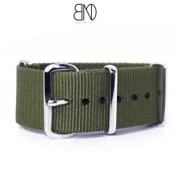 Bracelet de montre NATO 22mm KAKI nylon