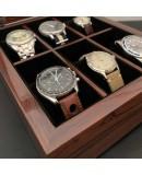 watch box 6 watches makassar wood