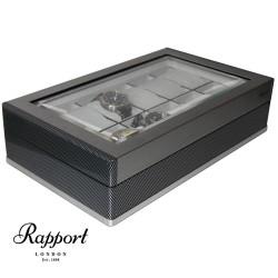 Coffret 12 montres Carbone F3 Rapport London aluminium brossé
