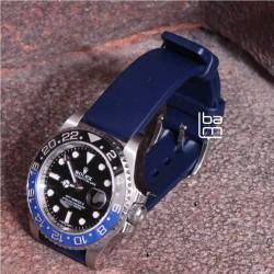 Hirsch bracelet pure caoutchouc bleu