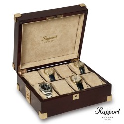 Coffret 8 montres acajou Captain 8 Rapport London B266