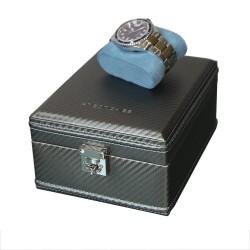 Carbon watchbox grey and blue Friedrich 4 watch