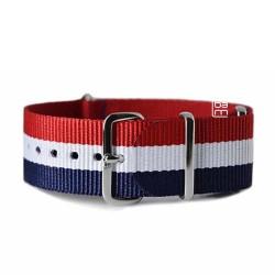 bracelet NATO 22mm Bleu Blanc Rouge France