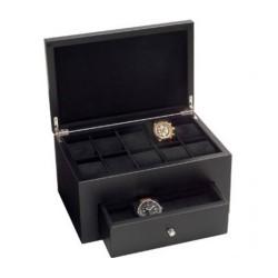 Coffre Beco 18 montres noir satin