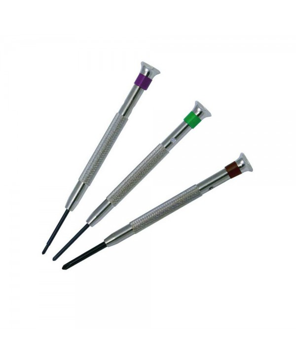 Set of 3 cross screwdrivers for watchmakers