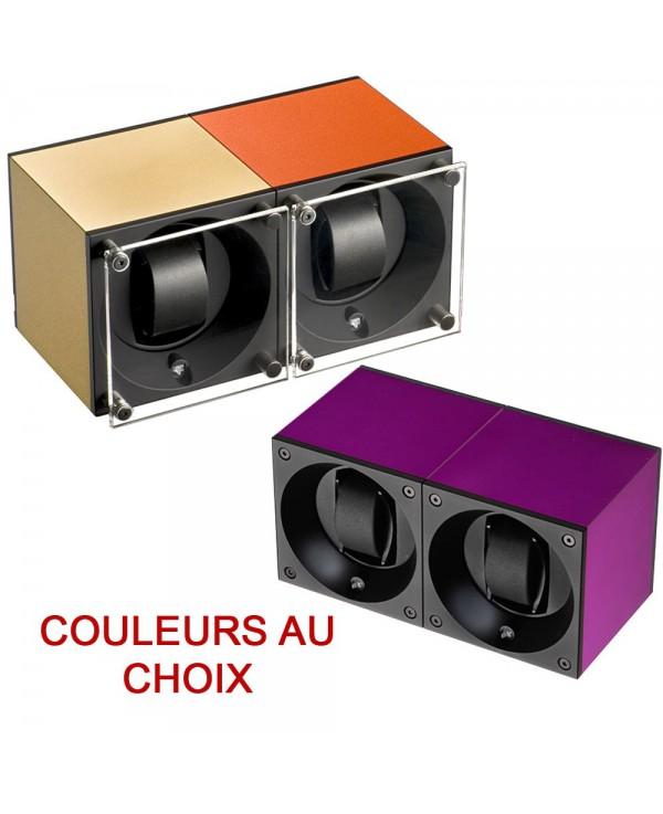 Double Watchwinder Swiss Kubik Choose your colours