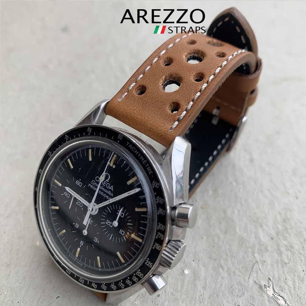 bracelet montre rally maranello arezzo straps cuir miel