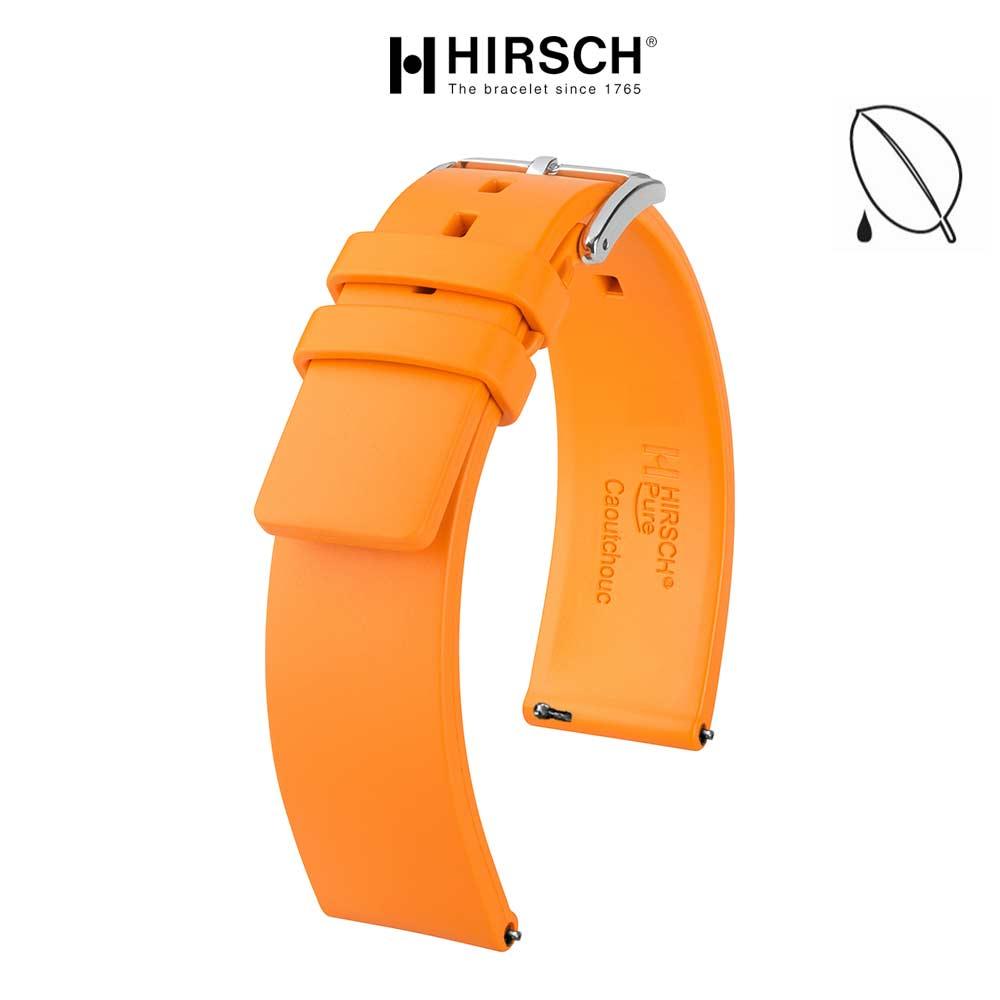 bracelet hirsch pure orange caoutchouc