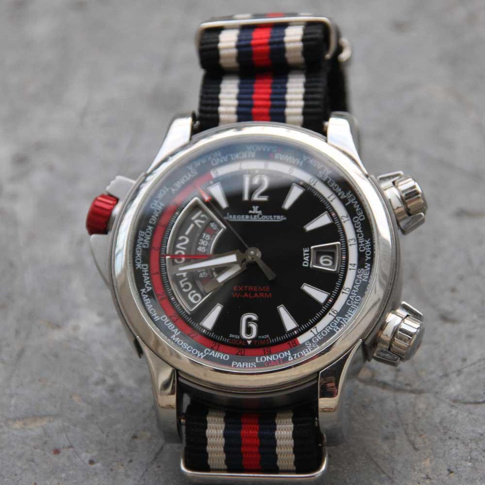 bracelet nato sur montre jaeger lecoultre master compressor