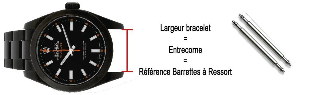 barrettes pompe ressort pour bracelets de montres