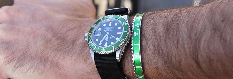 bracelet speedometer official vert rolex